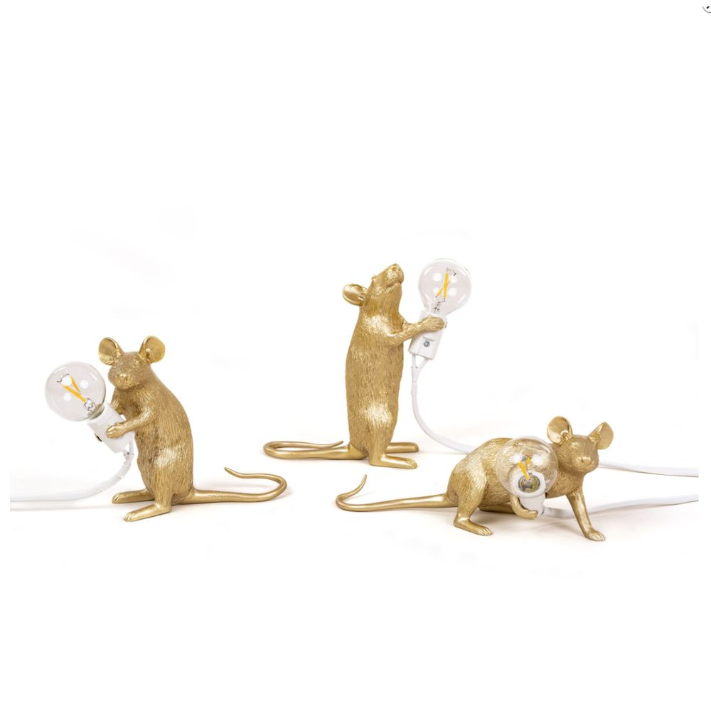mouse-lamp Gold Seletti