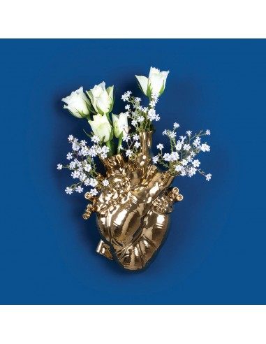 Seletti Love in Bloom Gold Wandvase
