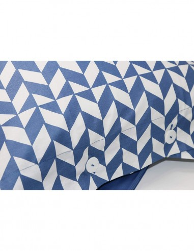 Double bed set blue Pattern Fazzini